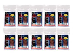 10 (Ten) Pack Lot of 100 Soft Sleeves