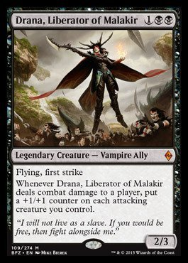 Drana, Liberator of Malakir (109-274) - Battle for Zendikar